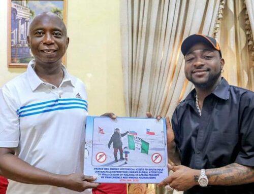 Davido endorsed Ned Nwoko Malaria Eradication Project.