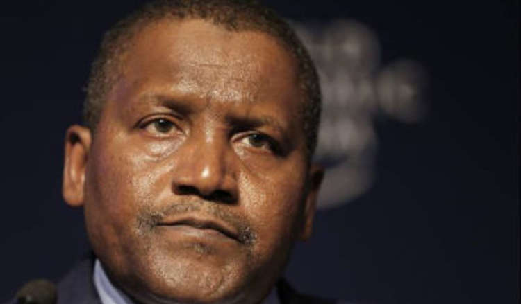 Dangote losts $900m within 24 hours