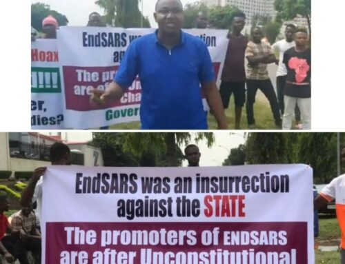 """There was no massacre anywhere in Nigeria""""- Pro-Buhari protesters stage protest in Abuja"""